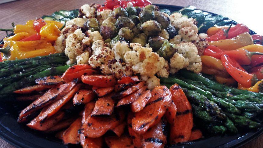 Grilled & roasted veggie platter