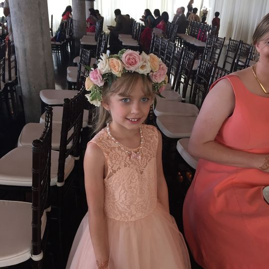Flower girl with her floral crown
