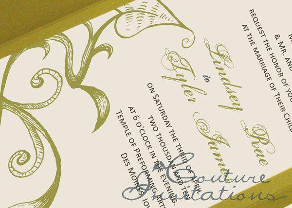 Tmx 1259097859419 Green.brown.inviation.couture.invitaitons2 Urbandale wedding invitation