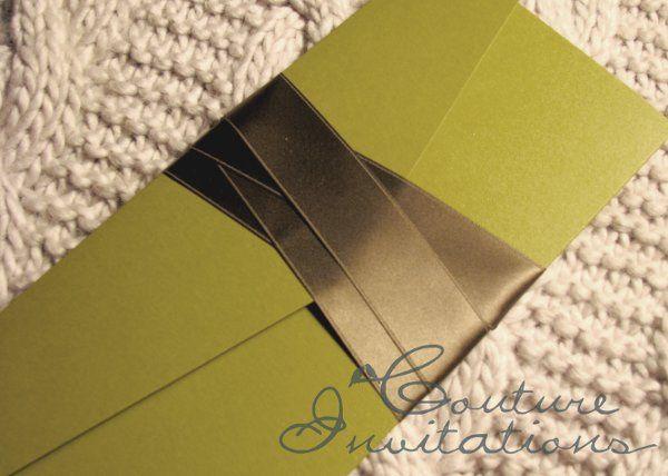 Tmx 1259097866935 Green.brown.inviation.couture.invitaitons3 Urbandale wedding invitation