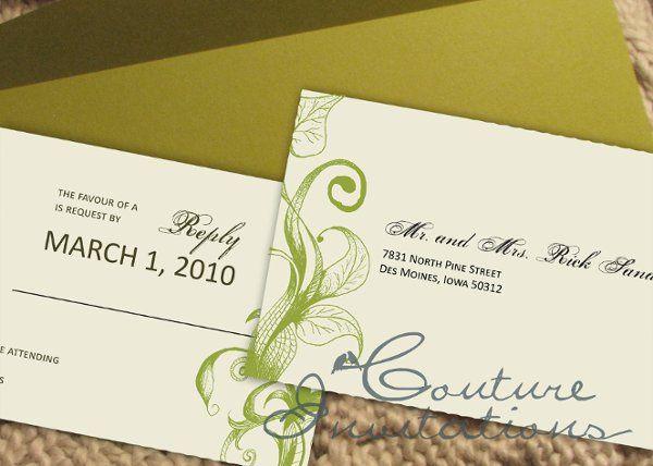 Tmx 1259097874732 Green.brown.inviation.couture.invitaitons4 Urbandale wedding invitation