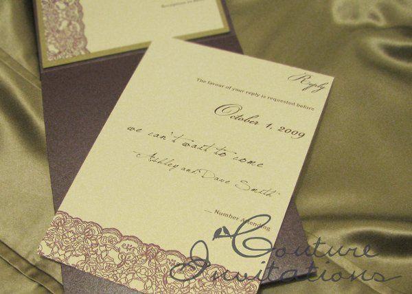 Tmx 1259097911763 Plum.gold.invites.couture.invitations2 Urbandale wedding invitation