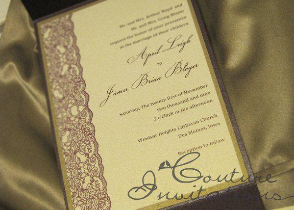 Tmx 1259097934857 Plum.gold.invites.couture.invitations3 Urbandale wedding invitation