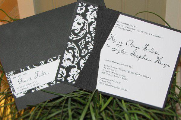 Tmx 1259098022466 Black.white.damask.invite Urbandale wedding invitation