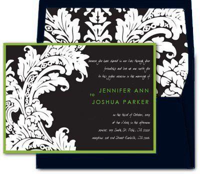 Tmx 1259098037872 Damaskenvelopeliner Urbandale wedding invitation