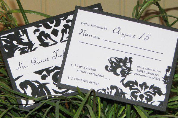 Tmx 1259098037935 Black.white.damask.rsvp Urbandale wedding invitation