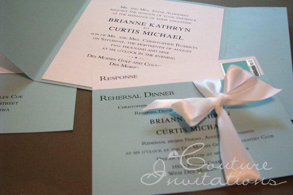 Tmx 1259098138107 Tiffanys.Inspired.2 Urbandale wedding invitation