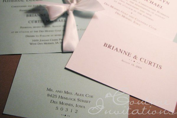 Tmx 1259098139403 Tiffanys.Inspired.3 Urbandale wedding invitation