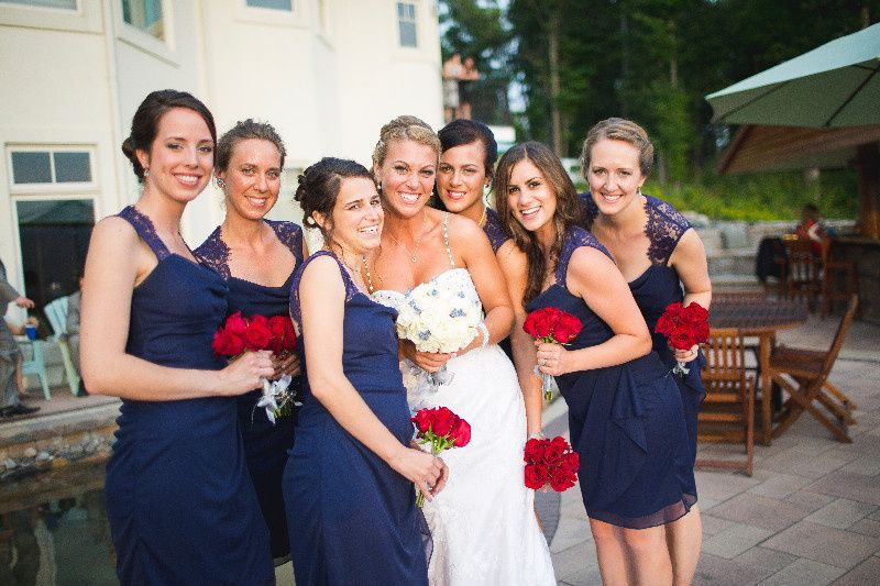 Amanda and Bridesmaids.