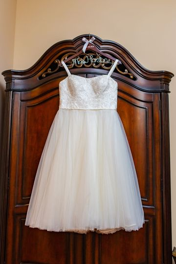 Bridal gown display