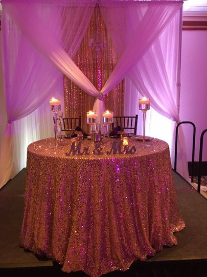 Newlyweds table