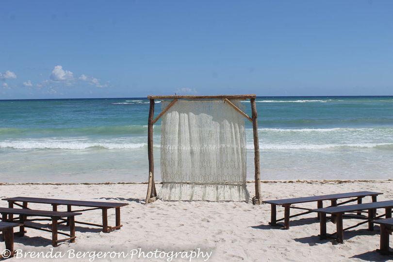 Beach wedding option