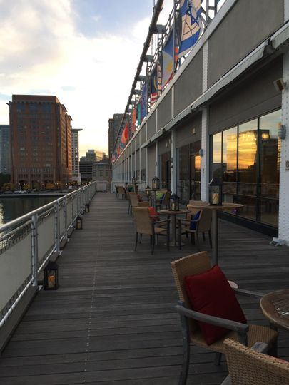 Sunset on the Private Patio Deck Exclusive the Harborview Ballroom is Amazing!