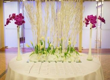 A Tall Arrangement Transforms your Escort Card Table