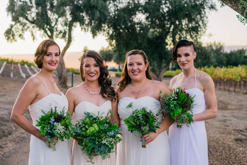Bridesmaids hair & makeup