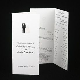 Simple white invites