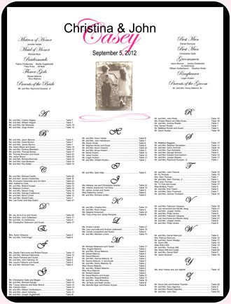 Tmx 1384883595100 Photoguestseatingcharts Wayne, New Jersey wedding invitation