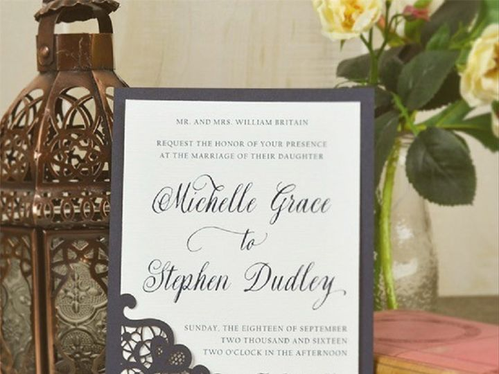 Tmx Invitation With Backer 51 21146 Wayne, New Jersey wedding invitation