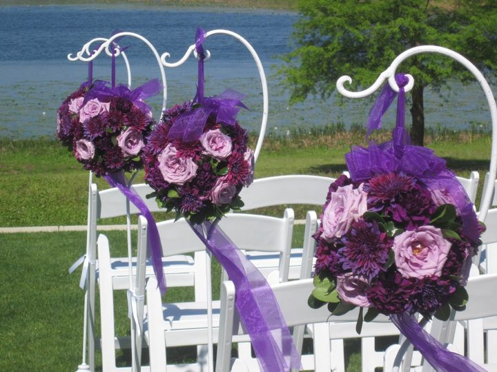 Purple flower decors