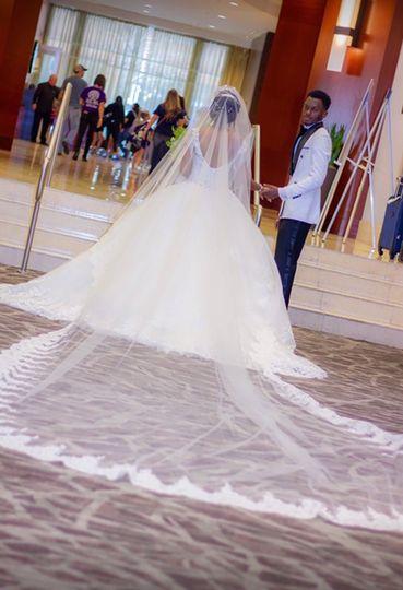 Custom made veil 15 feet long