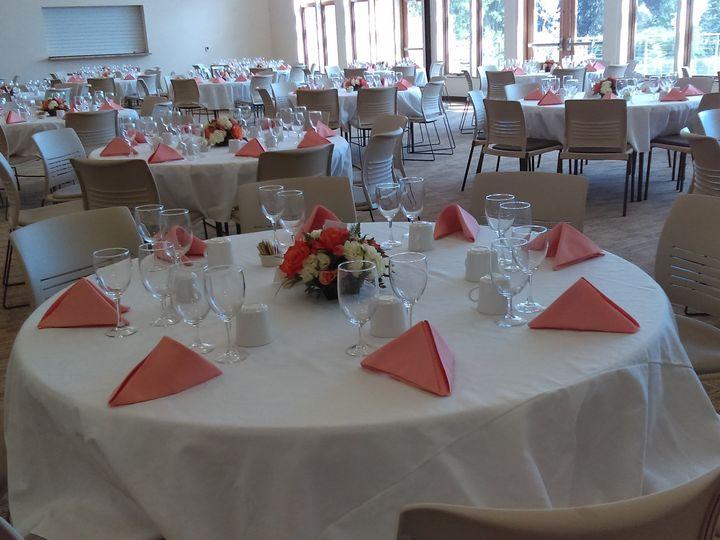 Tmx 1468972204319 9 Banquet Hall Peach Napkin Table Kingston wedding band