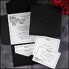 Tmx 1339704617416 BlackandWhitePocket2 Fountain Valley wedding invitation