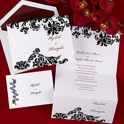 Tmx 1339704643087 DamaskTrifoldInvitation Fountain Valley wedding invitation