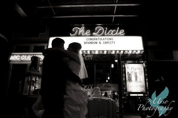 First Dance in front of the Theatre Marquis at The Car Barn!