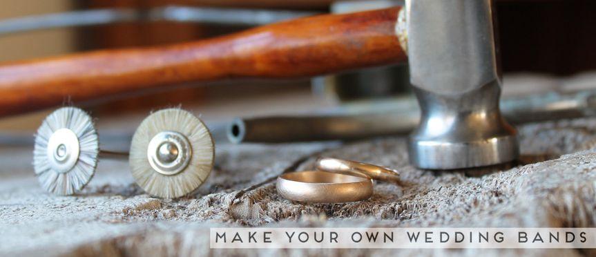 make your own wedding bands hammer