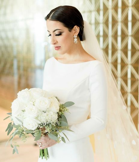 White long sleeve wedding dress