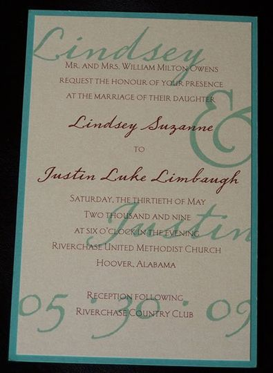 one of our most popular invitations! Watermarked names can be changed to your wedding colors, as...