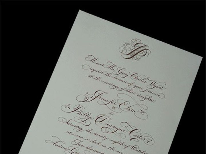 Tmx 1258225871490 CALLIG2 Birmingham wedding invitation