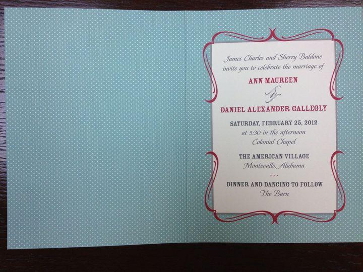 Tmx 1354822408500 PhotoMar1925325PM Birmingham wedding invitation