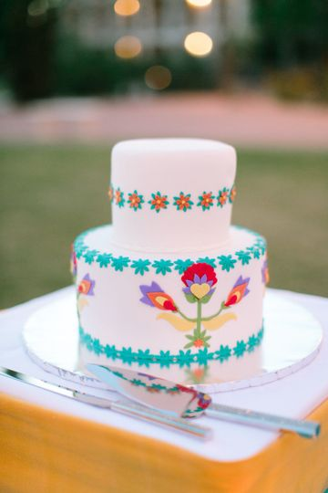 wedding cake colorful
