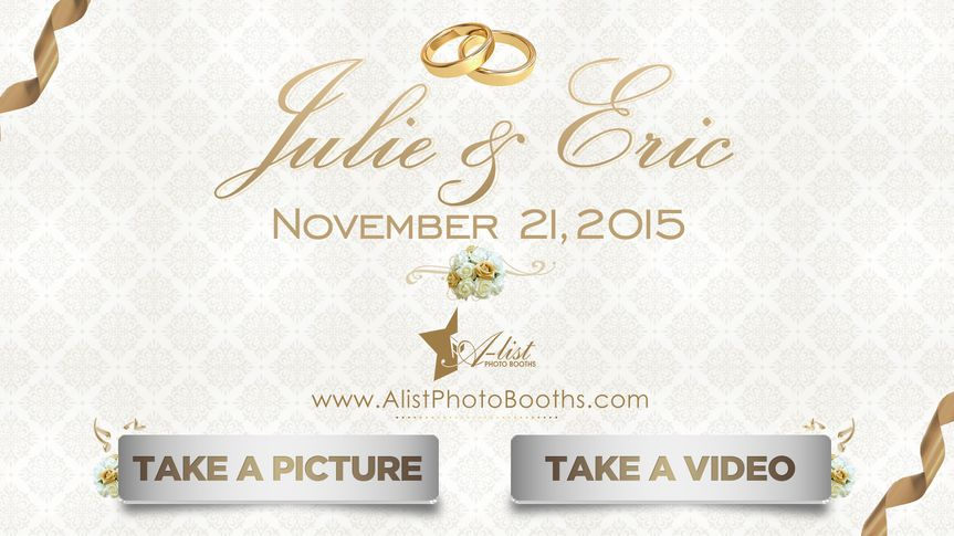 julie and erics menu screen sample