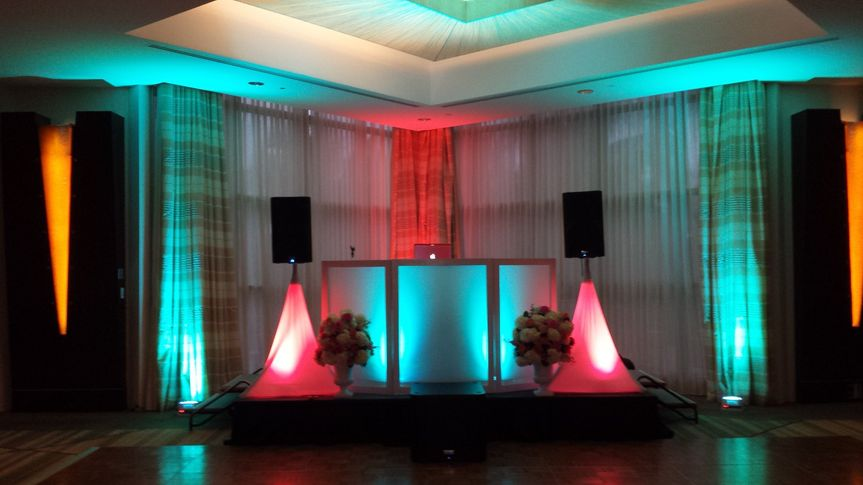 Dj's mixing table setup