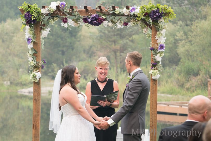 Officiating the couple's marriage