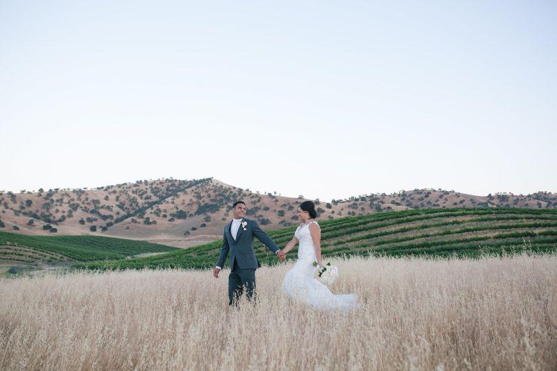 An outdoor wedding shoot