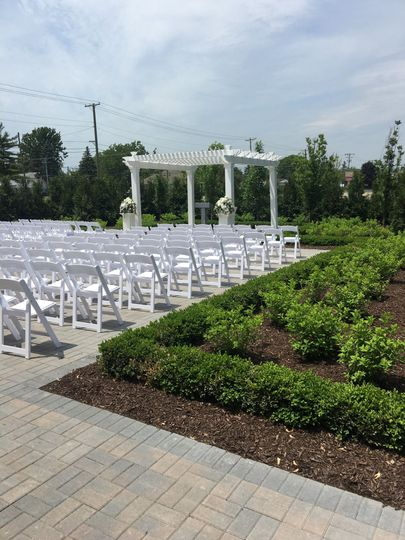 Beautiful outdoor ceremony space