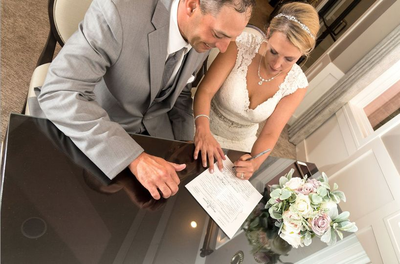 Officiant with marriage license signing included (or you are welcome to use your own)