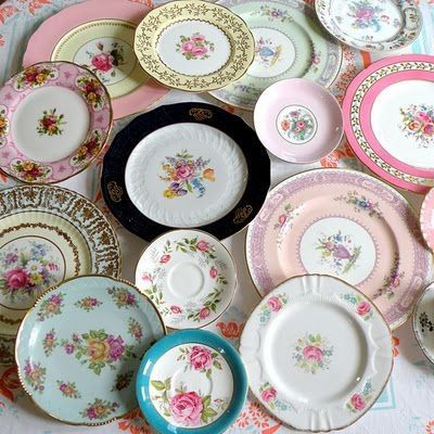 Beautiful Selection of Mismatched China for Rent