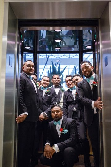 Make your wedding party photos fun in our glass elevators overlooking the Atrium!