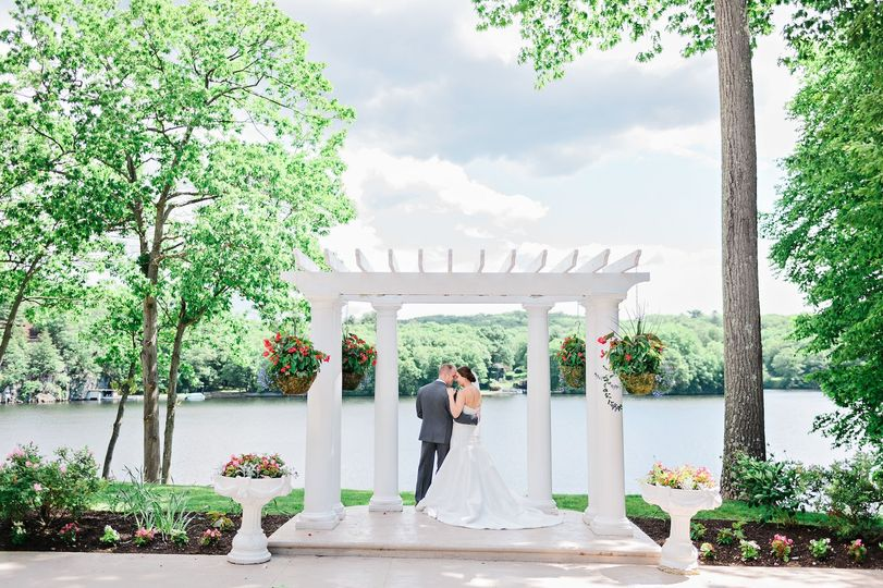 Ceremony area on our East Patio.Photo by HK Photography