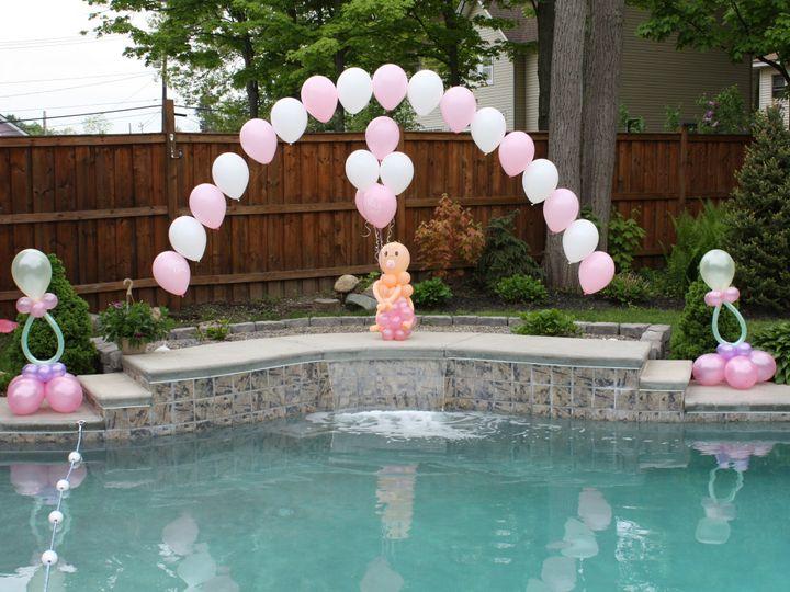 Tmx 1405025514223 Baby Pool Arch Springville wedding florist