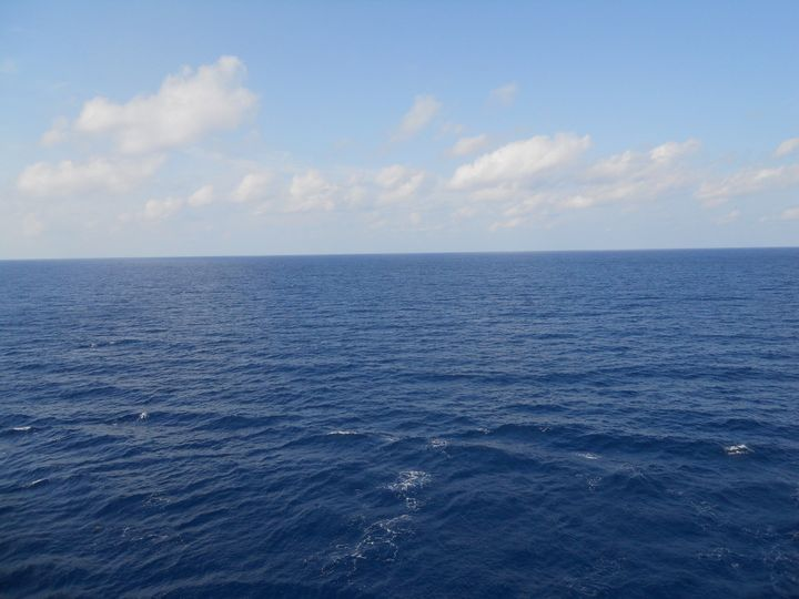 The open sea on a cruise