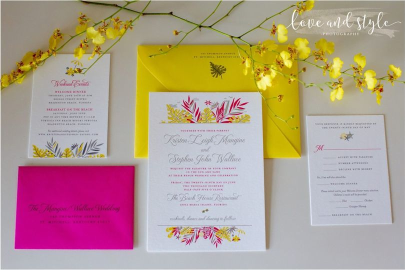 Bright & bold stationery