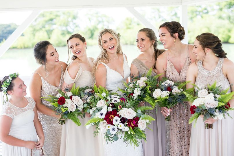 Bridal party at The Honey Farm