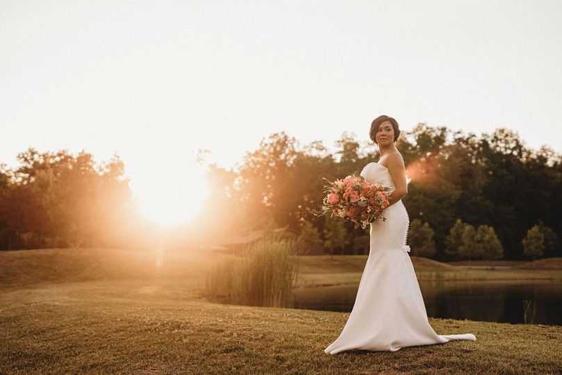 Bride at Derby Lane Estate