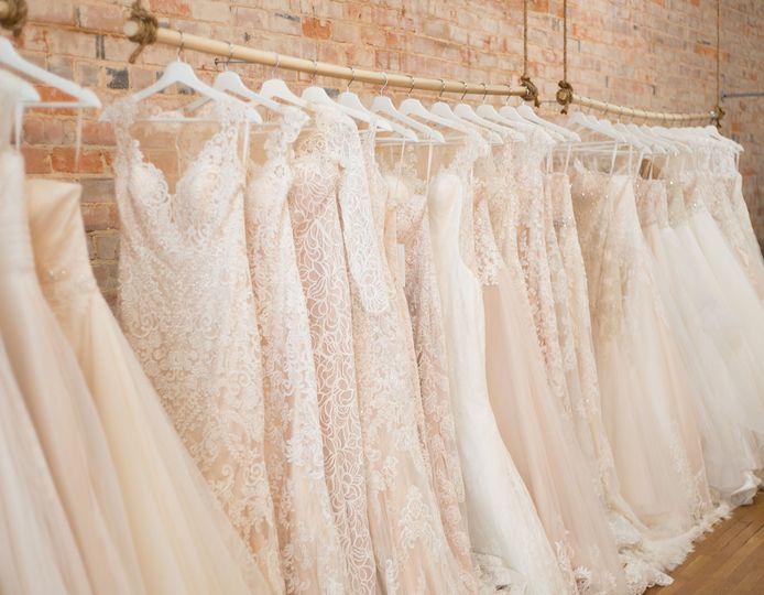 Elegant white gowns