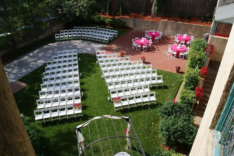 View of ceremony space from above